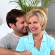 Stock Photo: Couple decorating
