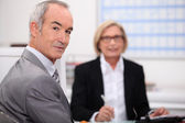 Senior businesspeople in interview — Stock Photo