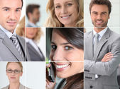 Mozaika biznesmenów — Zdjęcie stockowe