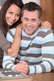 Couple received good news — Stock Photo