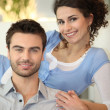 Peaceful couple on sofa — Stock Photo #8400036