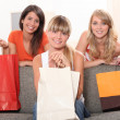 Friends with shopping bags — Stock Photo #8401233