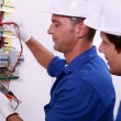 Electrical inspectors at work — Stock Photo