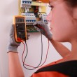 Female electrical engineer — Stock Photo