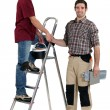 Two artisan workers — Stock Photo