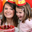 Little girl celebrating her birthday — Stock Photo
