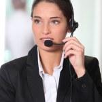 Customer service woman — Stock Photo