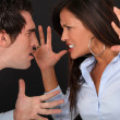 Couple having argument - Stock Photo
