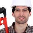 Man holding bolt cutters — Stock Photo #8409501