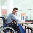 Disabled worker — Stock Photo #8409849
