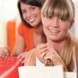Two friends with shopping bags — Stock Photo #8409872