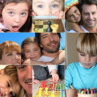 Stock Photo: Collage of children