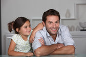 Father and young daughter — Stock Photo