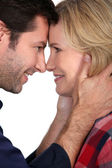 Couple with noses together — Stock Photo