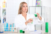 Student in chemistry — Stock Photo