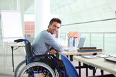 Disabled worker — Stock Photo