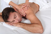 Man having a massage — Stock Photo