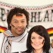 Couple supporting the German football team — Stock Photo #8410117