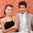 Couple out on a romantic date — Stock Photo #8410419