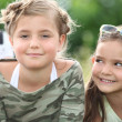 Two cute blonde child girls - Stockfoto