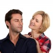 Woman trying to persuade her husband — Stock Photo