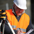 Surveyor working — Stock Photo