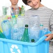 Stock Photo: Children doing recycling