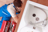 View of a plumber — Stock Photo