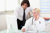 Doctor consultation — Stock Photo