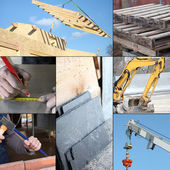 Collage of the construction industry — Stock Photo