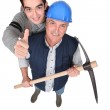 Tradesmen giving the thumb's up — Stock Photo #8420632
