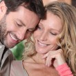 Couple smiling - Stock Photo
