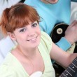 Teenagers playing guitar — Stock Photo