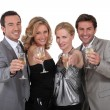 Party with champagne — Stock Photo #8422633