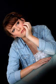 Contemplative woman — Stock Photo