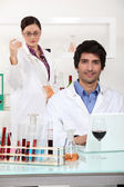 Wine expert in a lab — Stock Photo