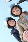 Couple of bikers on a ride — Stock Photo