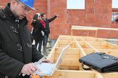 Architetto era rimasto con cornice in legno — Foto Stock