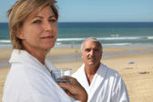 Mature couple in thalassotherapy resort — Stock Photo