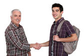 Men handshaking — Stock Photo