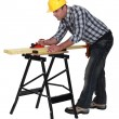 Carpenter sanding — Stock Photo #8454863
