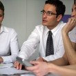 Businesspeople on a seminar — Stock Photo