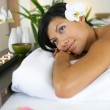 Woman at a spa — Stock Photo #8458369