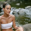 Attractive woman bathing by the river — Stock Photo #8458484