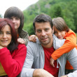 Family in the countryside — Stock Photo #8459145