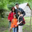 Family on hiking holiday - Stock Photo