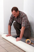 Craftsman covering the floor — Stock Photo