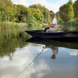 Man fishing — Stock Photo #8461785