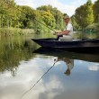 Foto Stock: Man fishing