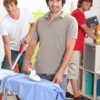 Stock Photo: Men cleaning